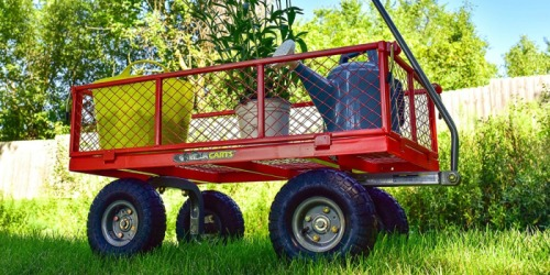 Amazon Prime: Gorilla Carts Steel Utility Cart Only $74 Shipped (Reg. $120) – Holds 800 Pounds