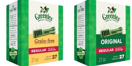 Amazon: Greenies Dental Dog Treats 27oz Box Only $10.71 Shipped