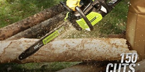 GreenWorks Pro 18-Inch Cordless Chainsaw Only $129.69 Shipped (Regularly $179)