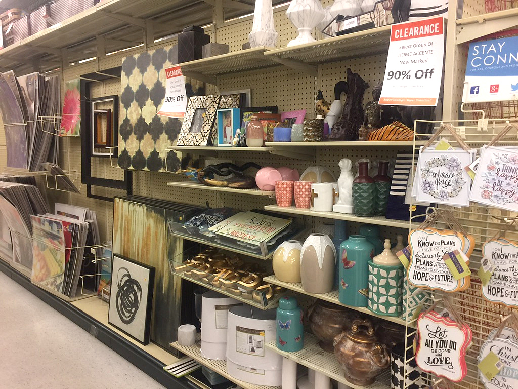 90% off home accent sale at Hobby Lobby