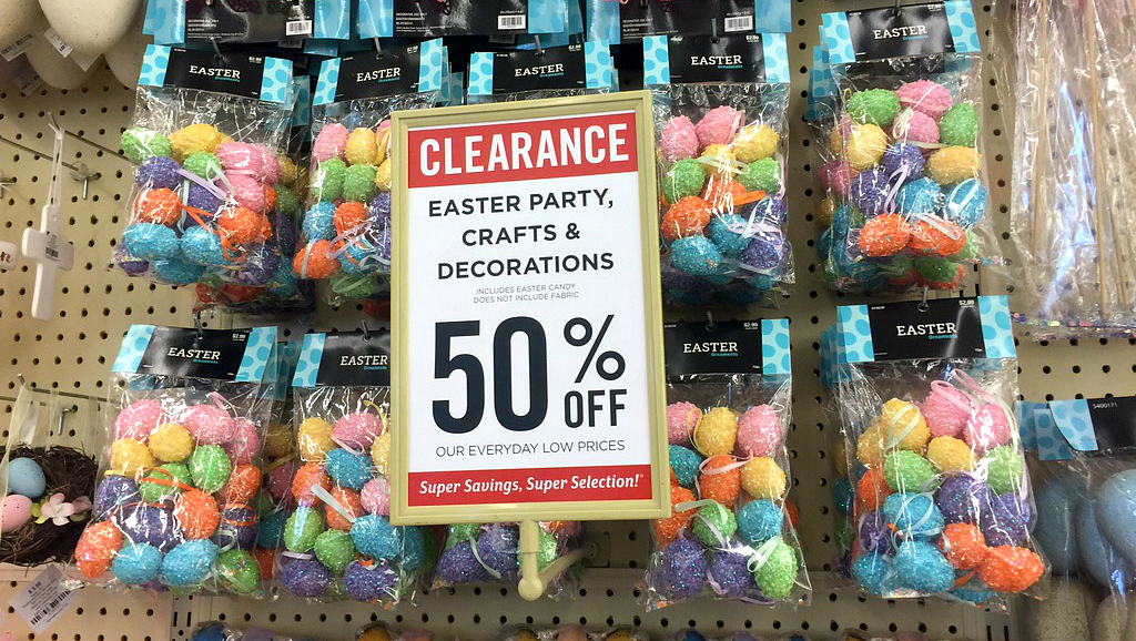 50% off Easter clearance at Hobby Lobby