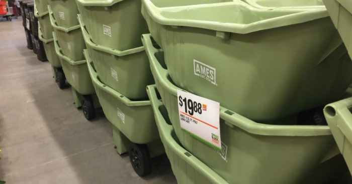 Home Depot Ames Poly Lawn Cart Only 19 88 Holds 250 Pounds Why Readers Love