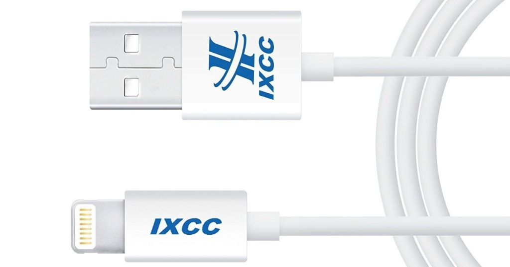 online retailer cc35f ecbf0 Amazon: iXCC Element II Lightning iPhone Charging Cable Only $3.99 ...