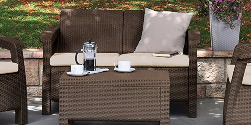 Amazon: Keter Outdoor Patio Love Seat w/ Cushions Only $95.38 Shipped (Reg. $199.99)