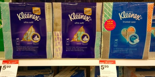 Kleenex Facial Tissues 4-Pack Only $3.24