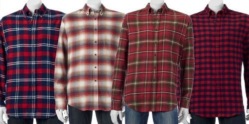 Kohl's Cardholders: Men's Croft & Barrow Flannel Shirts As Low As $4 Each Shipped (Regularly $36)