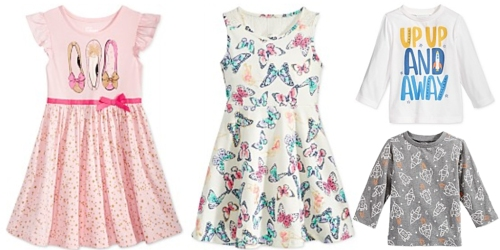 Macy's: Extra 25% Off Clothing Including Clearance = $2.24 Baby Tees, $9.74 Girls Dresses & More