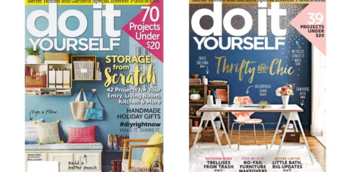 Enjoy DIY Projects? Score a One Year Subscription to Do It Yourself Magazine for ONLY $9.99 Shipped