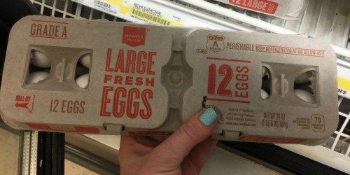 Target Shoppers! *HOT* Market Pantry Large Dozen Eggs ONLY 39¢
