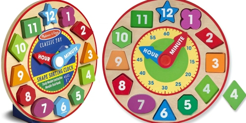 Amazon: Melissa & Doug Shape Sorting Clock Only $7.63 (GREAT Reviews)