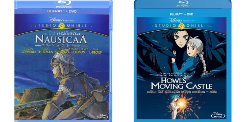 Disney's Studio Ghibli Nausicaä or Howl's Moving Castle Blu-ray + DVDs Only $11.91 Each