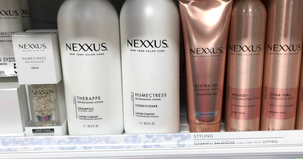 Nexxus products on shelf