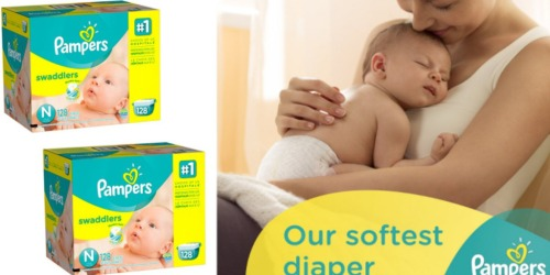 Amazon: Pampers Swaddlers Newborn Diapers 128-Count Only $14.39 (Just 14¢ Per Diaper)