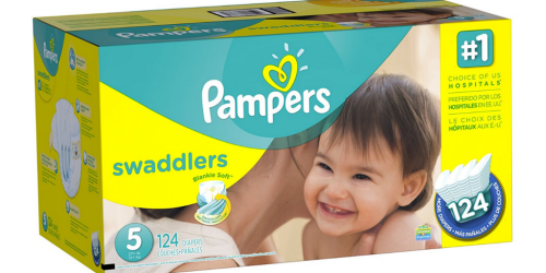 Amazon Family: Pampers Swaddlers Size 5 Diapers 124-Count ONLY $14.41 Shipped