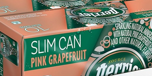 Amazon: Perrier Sparkling Natural Mineral Water 30-Pack Only $11.37 Shipped (38¢ Per Can!)