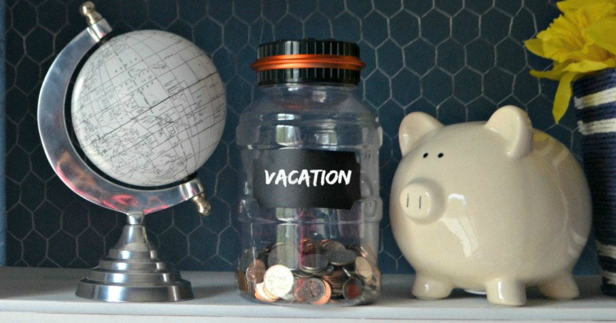 our best tricks to budget for christmas — a globe, vacation money, and a piggy bank