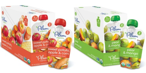 Amazon: Plum Organics Baby Food Pouches 12-Pack $9.39 Shipped (78¢ Per Pouch) & More