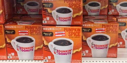 2 New Dunkin' Donuts Coffee Coupons = K-Cups As Low As 30¢ Each At Target + More