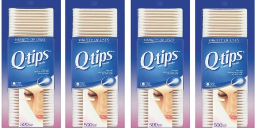 Target.com: Q-tips Cotton Swabs 500-Count Packages Only $1.74 Each – When You Buy 4