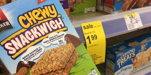 Walgreens Shoppers! Quaker Chewy Snackwich 5-Count Box Only 99¢ (Regularly $3.99)