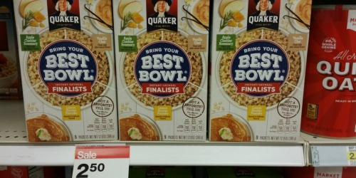 Target Shoppers! Score 50% OFF Quaker Oats Best Bowl Finalists (NO Coupons Needed)
