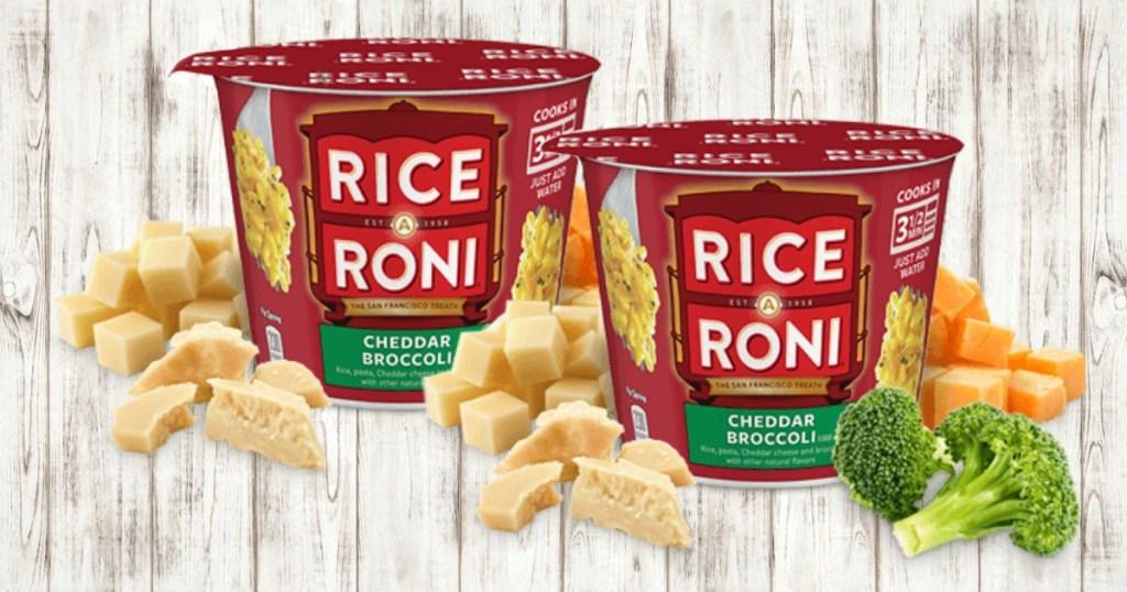 Rice A Roni Cheddar Broccoli Cups