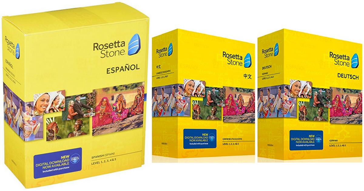 Amazon: Rosetta Stone Level 1-5 Sets Only $139 Shipped