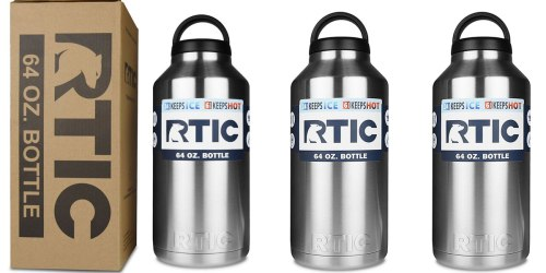 Amazon: RTIC Stainless Steel 64 oz Bottle Just $16.99 Shipped (Best Price)
