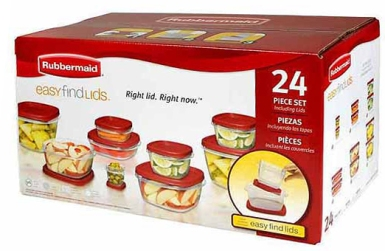 Rubbermaid Easy Find Containers