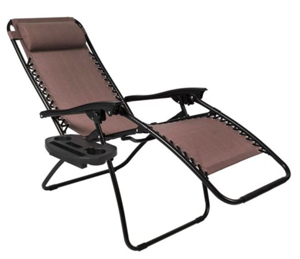 Set Of Two Zero Gravity Chairs W Cupholder Trays 54 99