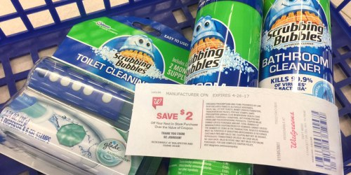 Walgreens: Scrubbing Bubbles Cleaning Products Only $1.03 Each