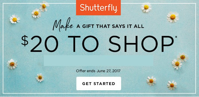 Shutterfly offer