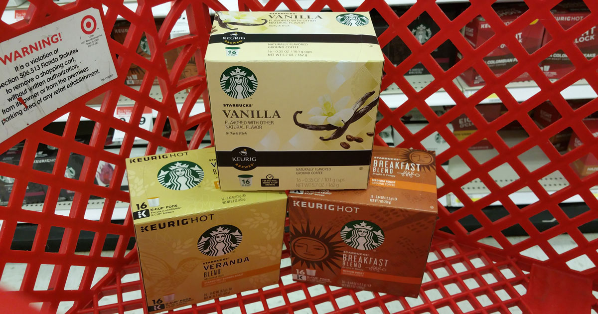 picture regarding Starbucks K Cups Printable Coupons referred to as Concentration: Starbucks Espresso Baggage Precisely $3.66 Just about every Cost savings upon K