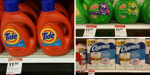 Target: BIG Savings On Tide, Gain, Charmin, Downy, Bounty, Puffs & More