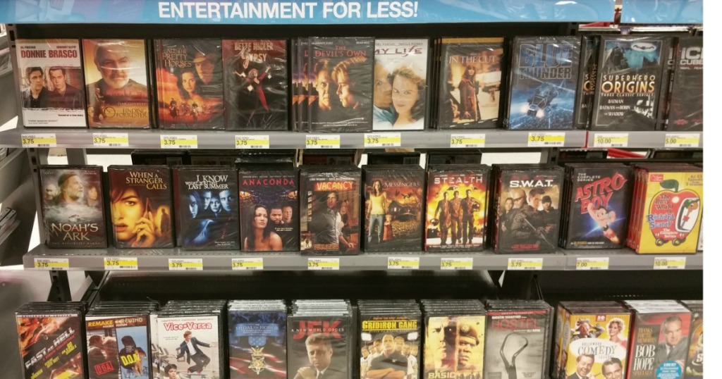 movies on shelf
