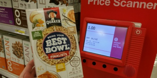 Target Shoppers! Quaker Oats Best Bowl 9 Count Boxes Just 50¢ Each (No Coupons Needed)