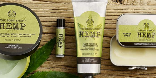 The Body Shop: FOUR Hemp Products Only $20 – Just $5 Each