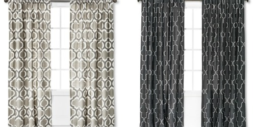 Target: 30% Off Window Items = Threshold Curtain Panels Only $20.99 (Regularly $29.99) & More