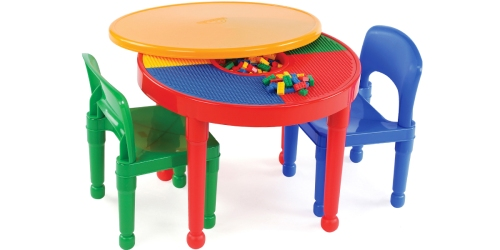 Tot Tutors 2-in-1 LEGO Compatible Activity Table AND Two Chairs Only $33 (Regularly $77)