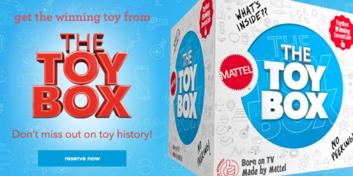 ToysRUs.com: Reserve Mattel's Winning Toy From The Toy Box NOW (1st 1,500 Only)