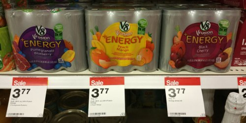 Target: V8 Fusion+Energy 6-Packs Just $1.77 (Only 30¢ Per Can) & More