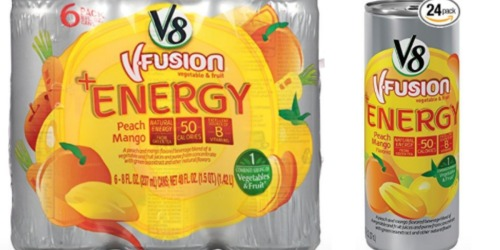 Amazon: V8 +Energy Peach Mango Drinks 24-Count Only $11.14 Shipped (46¢ Per Drink!)