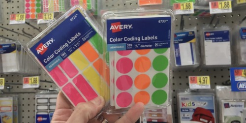 Walmart.com: Avery Assorted Color-Coding Labels 315-Pack Only $1.73 (Regularly $5) & More