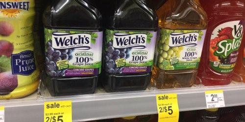 Walgreens: Welch's 100% Grape Juice 46 oz Bottles Just $1.75