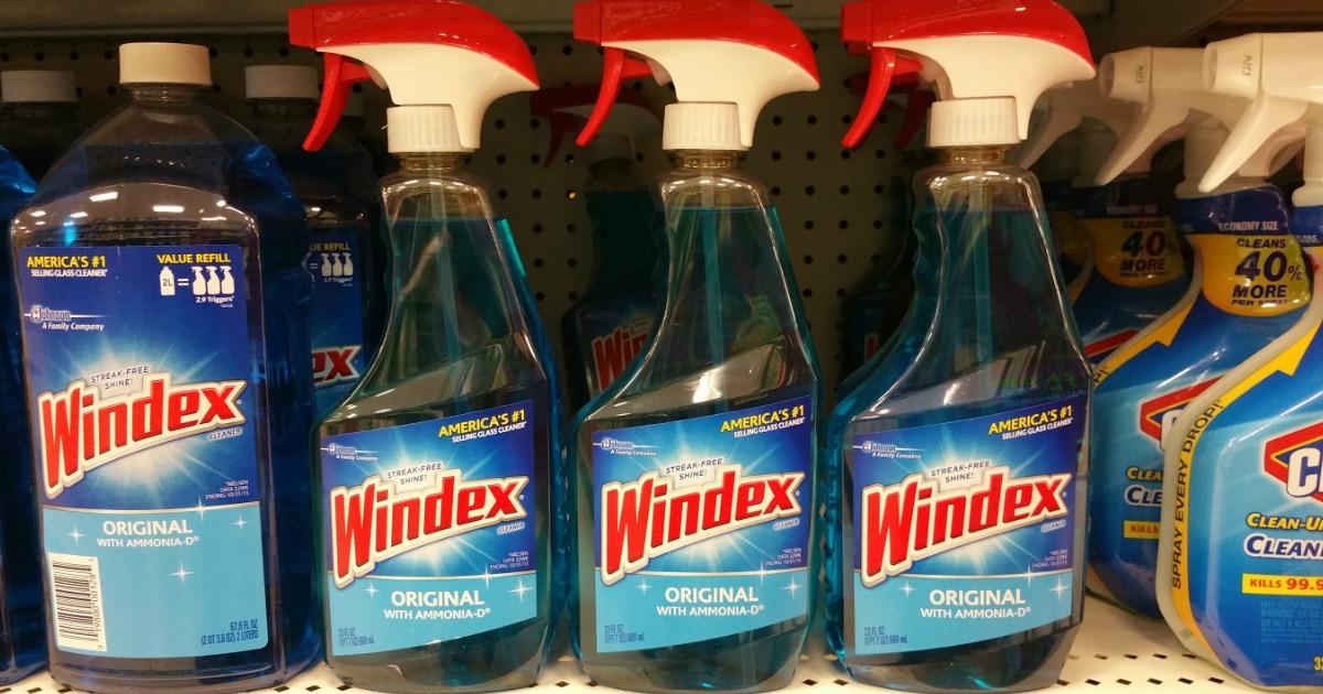 windex bottles on store shelves