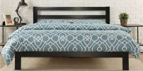 Platform Metal Queen Bed Frame w/ Headboard Only $114 Shipped