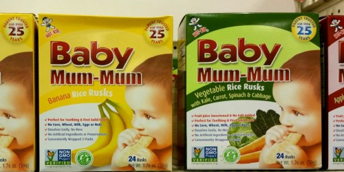 Target: Baby Mum-Mum Rice Rusks ONLY $1.64 (Gluten-Free All Natural Rice Biscuits)