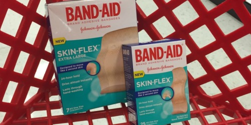 High Value $2/1 Band-Aid Skin-Flex Coupon + FREE First Aid Bag at Target w/ Select Purchase