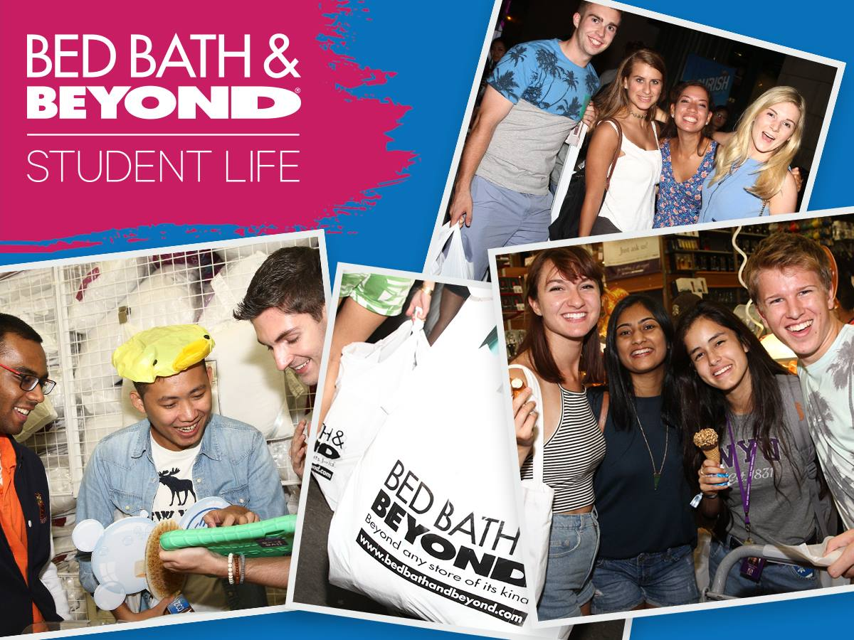 22 college student discounts & freebies – bed bath and beyond student life banner