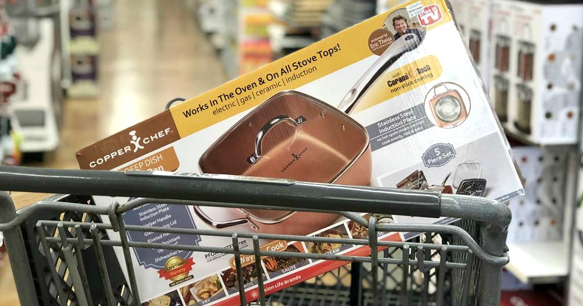 17 bed bath beyond money saving secrets - a cart with a copper pan